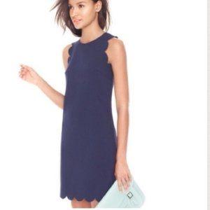 J Crew Blue Scallop Dress